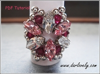 Crystal Pink Navette Flower Ring Tutorial - Free