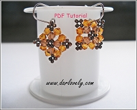 Topaz Square Earrings Tutorial