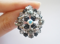 Black Crystal Navette Square Ring Tutorial