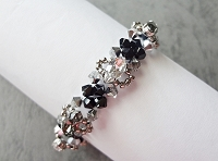 Black Crystal Navette Metal Bracelet Tutorial