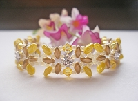 Golden Yellow Superduo Montee Bracelet Tutorial