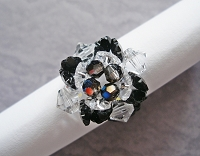 Crystal Black Flower Ring Tutorial