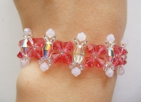 Crystal Indian Pink Rose Bracelet Tutorial