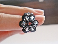 Black Flower Ring Tutorial