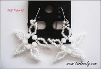Christmas White Star Earrings Tutorial