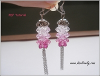 Pink Rod Chain Earrings Tutorial
