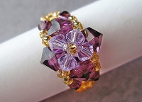 Amethyst Violet Ring Tutorial