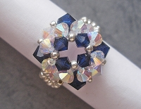 Blue Crystal Square Ring Tutorial