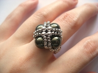 Green Pearl Metal Ring Tutorial