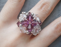 Crystal Amethyst Metal Ring Tutorial