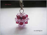 Pink Ruby Crystal Ball Charm/ Pendant Tutorial