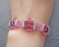 Pink Ruby Flower Bracelet Tutorial