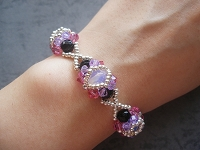 XOXO Hugs and Kisses Rose Violet Bracelet Tutorial