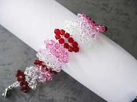 Red Pink Crystal Leaf Bracelet Tutorial