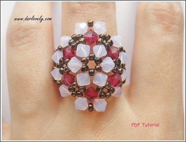 Rose Opal Ruby Flower Bronze Ring Tutorial