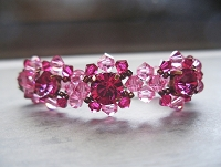Rose Ruby Chaton Bracelet Tutorial