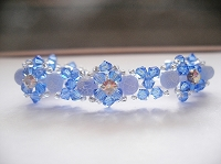 Sapphire Blue Fire Dream Montee Bracelet Tutorial