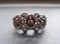 Purple Pearl Ring Tutorial