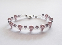 Pink Purple Pearl Bracelet Tutorial