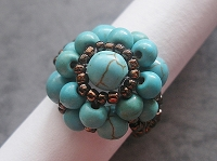 Vintage Turquoise Flower Ring Tutorial