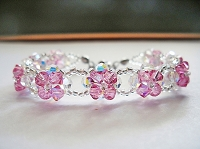 Rose Crystal Flower Bracelet Tutorial