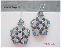 Ocean Blue Flower Earrings Tutorial - Free Pattern for September