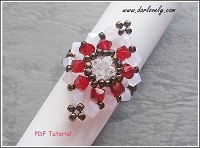 Red Rose Water Opal Diamond Ring Tutorial