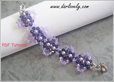 Purple Burst Flower Lace Bracelet/ Choker Tutorial
