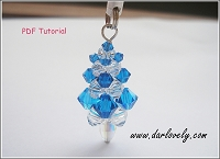 Blue White Christmas Tree Charm