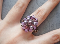 Purple Pearl Oval Ring Tutorial