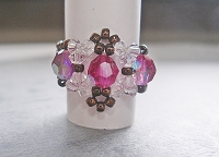 Fuchsia Crystal Lace Ring Tutorial