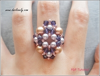 Purple Velvet Pearly Oval Ring Tutorial