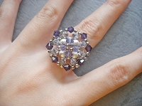 Silver Purple Metal Flower Ring Tutorial