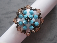 Vintage Copper Turquoise Flower Ring Tutorial