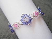 Rose Purple Flower Bracelet Tutorial