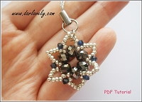 Metallic Snow Flake Flower Charm Tutorial