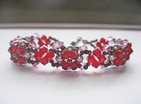 Red Pearl Flower Bracelet Tutorial