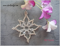Sparkle Starry Snow Flake Pendant