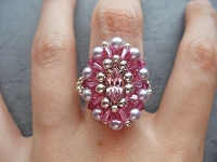 Classy Pink Oval Navette Ring Tutorial