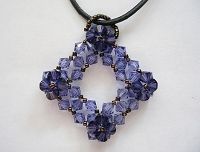 Purple Square Pendant Tutorial