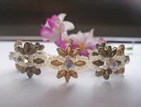 Double Golden Superduo Montee Flower Bracelet Tutorial