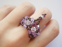 Amethyst Violet Dangling Ring Tutorial