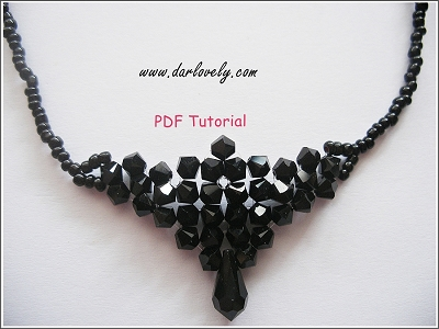 Black Elegant Necklace Tutorial