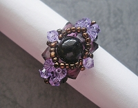 Lovely Black Amethyst Flower Ring Tutorial