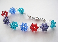 Puffy Flower Bracelet Tutorial