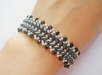 Elegant Black Ladder Superduo Bracelet Tutorial