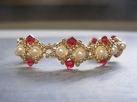 Red Golden Pearl Bracelet Tutorial
