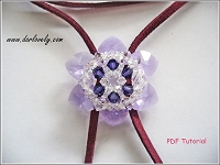 Violet Crystal Flower Pendant Tutorial