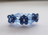 3 Blue Dainty Flower Ring Tutorial
