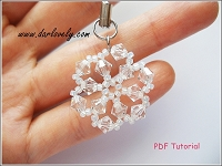 Flower Snow Flake Charm Tutorial